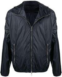 Emporio Armani Embossed-logo Lightweight Jacket - Blue