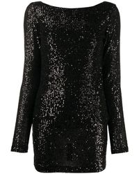 In the mood for love Moss Sequins Dress - Black