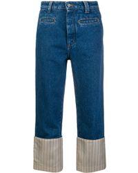 Loewe Striped Hem Fisherman Jeans - Blue