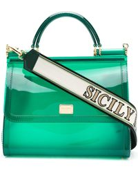 Dolce   Gabbana - Transparent Sicily Shoulder Bag - Lyst 395f030404