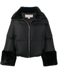 MICHAEL Michael Kors Faux-fur Trim Down Jacket - Black