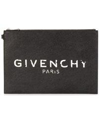 Givenchy Clutch con zip - Nero