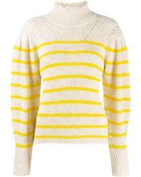 Étoile Isabel Marant Georgia Stripe Knit Sweater - Yellow