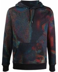 PS by Paul Smith Holographic-print Hoodie - Blue