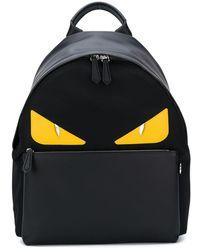Fendi Logo Backpack - Black