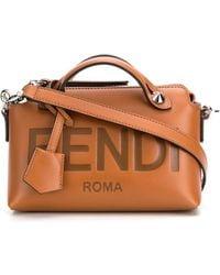 Fendi Borsa By The Way Mini In Pelle - Marrone