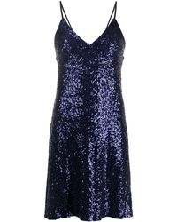Norma Kamali Sequined Short Dress - Blue
