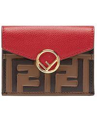 Fendi - Small Leather Wallet - Lyst