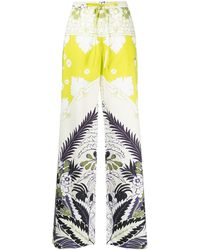 Valentino Floral-print Trousers - Green