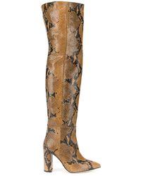 Paris Texas Leather Boots - Orange