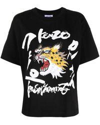 KENZO X Kansai Yamamoto Printed T-shirt - Black