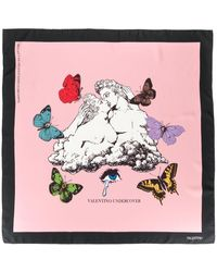Valentino Garavani Valentino Garavani Valentino Undercover Scarf 90x90 Cm - Pink