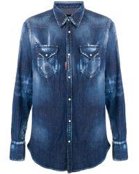DSquared² - Stretch Denim Shirt - Lyst