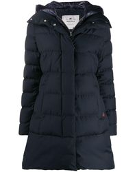 Woolrich Padded Mid-length Coat - Blue