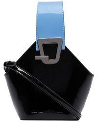 Danse Lente Mini Johnny Leather Bucket Bag - Black