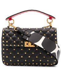 Valentino Garavani Rockstud Shoulder Bag - Black