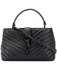 Rebecca Minkoff Edie Leather Satchel Bag - Black