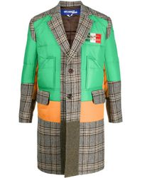 Junya Watanabe Paneled Single-breasted Coat - Multicolor