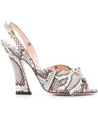 Fendi Ffreedom Slingback Sandals - White
