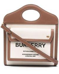 Burberry Borsa tote Pocket con logo - Multicolore