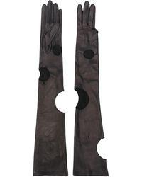 Off-White c/o Virgil Abloh Long Leather Gloves - Black