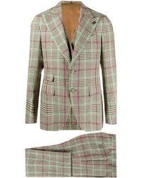 Gabriele Pasini Prince Of Wales Three-piece Suit - Multicolour