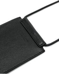 Off-White c/o Virgil Abloh Leather Diagonal Neck Pouch - Black