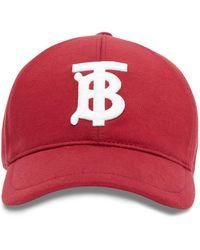 Burberry Logo Baseball Cap - Red