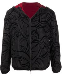 Emporio Armani Reversible Hooded Jacket - Black