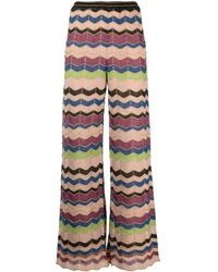 M Missoni Pantaloni a gamba ampia - Multicolore