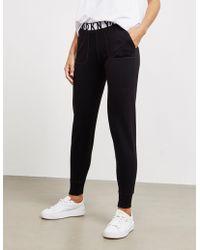 DKNY - Womens Slim Track Trousers Black - Lyst