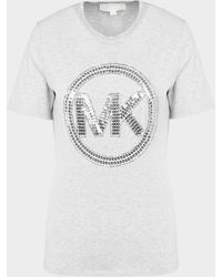 Michael Kors Sequin Logo T-shirt Gray