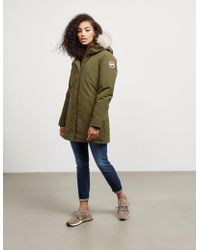Canada Goose - Womens Victoria Padded Parka Jacket Green - Lyst