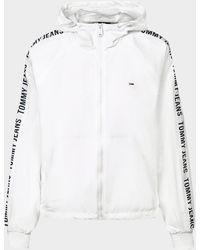 Tommy Hilfiger Tape Windbreaker Jacket - White
