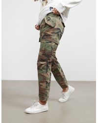 Polo Ralph Lauren Camouflage Cargo Trousers Green
