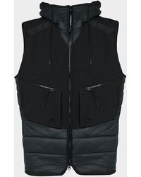 C.P. Company Pocket Quilted Goggle Gilet - Black