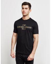 5522268737 Milan Logo Short Sleeve T-shirt Black
