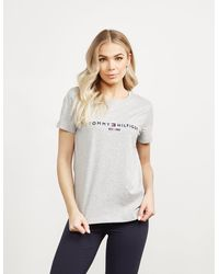 Tommy Hilfiger - Essential Short Sleeve T-shirt Grey - Lyst