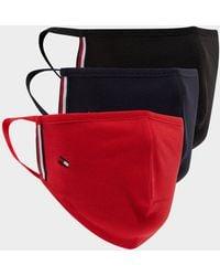 Tommy Hilfiger 3-pack Face Masks - Red