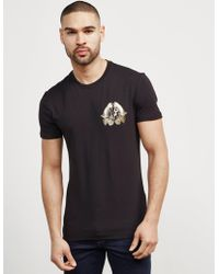Versace Jeans - Mens Foil Leaf Short Sleeve T-shirt Black - Lyst