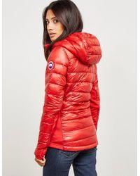 Canada Goose - Womens Hybridge Lite Hood Padded Jacket Red - Lyst