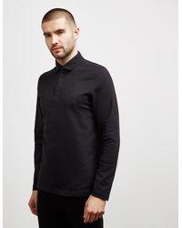Barbour Dunnet Long Sleeve Polo Shirt Black