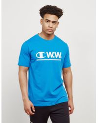 Champion - Mens X Wood Wood Short Sleeve T-shirt - Exclusive Blue - Lyst