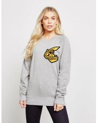Vivienne Westwood - Womens Anglomania Classic Patch Sweatshirt Grey - Lyst