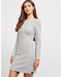 BOSS - Womens Jersey Bow Dress Grey - Lyst