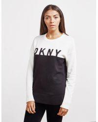 DKNY - Logo Contrast Sweater - Lyst