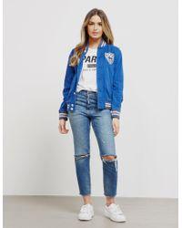 Polo Ralph Lauren - Womens Varsirty Jacket - Online Exclusive Blue - Lyst