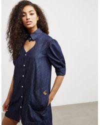 Vivienne Westwood - Womens Anglomania Denim Heart Dress - Online Exclusive Blue - Lyst