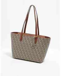 DKNY Bryant Logo Tote Bag Brown