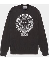Versace Jeans - Adriano Overhead Sweatshirt Blk/blk - Lyst
